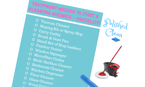 Get our free equipment needed to start a cleaning business checklist
